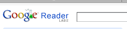 Google Reader Header