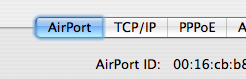 Viewing the MAC address on OSX.