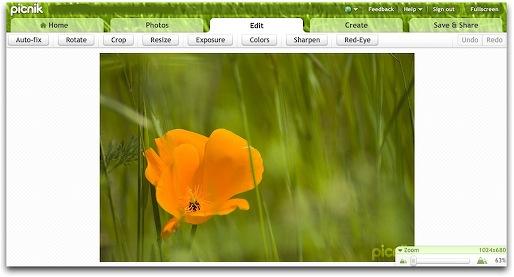 Picnik Screenshot