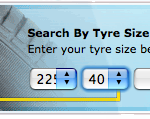 Kwik Fit Tyre Search Form