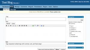 WordPress 2.3 Write Dialog